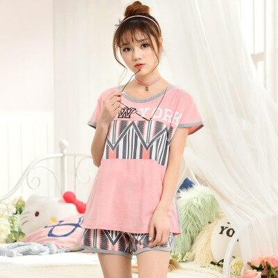 Brand quality 2017 Summer Style Women s Pajamas Sleep Lounge Short Sleeve Pyjamas  Women Pajama Sets Girls Sleepwear for Woman 151c3fb13