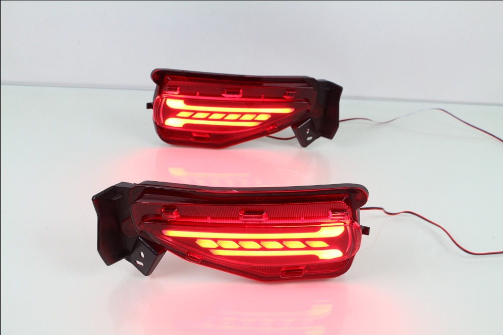 eOsuns led rear bumper light for toyota FORTUNER 2015 2016, driving lamp + brake signals, wireless switch eosuns led rear bumper light for for toyota vellfire 2016 2018 driving lamp brake light 2 functions warning light
