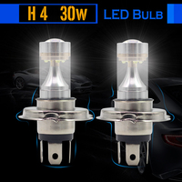2 Pieces 30W H4 Car LED Lamp Bulb 700LM White 6000K Replacement Auto Fog Light Daytime