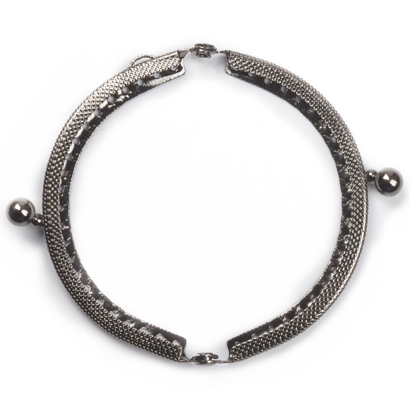 8.5cm Round Metal Purse Frame Handle for Clutch Bag Handbag Accessories Making Kiss Clasp Lock Antique Bronze Gold Bags Hardware
