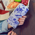 Vintage Embroidery Women Long Wallet Zipper Lady Purse Silk Material Female Money Clip China Style Flower  Bird Pattern Wallet