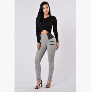 Image 5 - Mallas S XXL de cintura alta para Mujer, Leggings elásticos negros, Sexy, ajustados, informales, talla grande