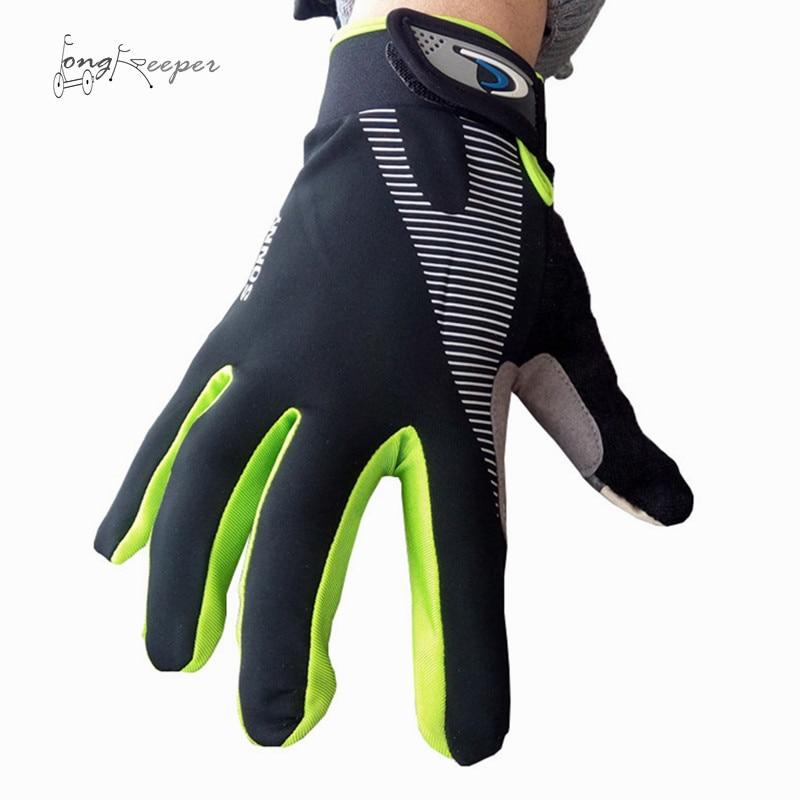 LongKeeper Mens Cycling Gloves Women Men Full Finger Gloves for Sports Biking Riding Touch Screen Guantes Eldiven