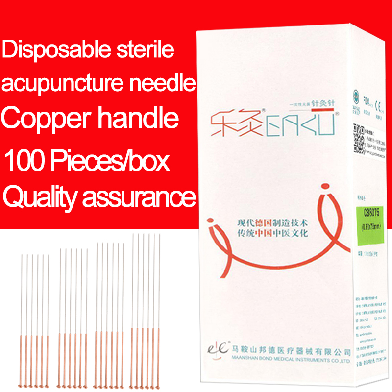 100pcs/box Copper Handle Acupuncture Needle Disposable Needle 100 pcs eacu high quality disposable aucpuncture edge needle with tube aluminum handle knife needle painless massage needle