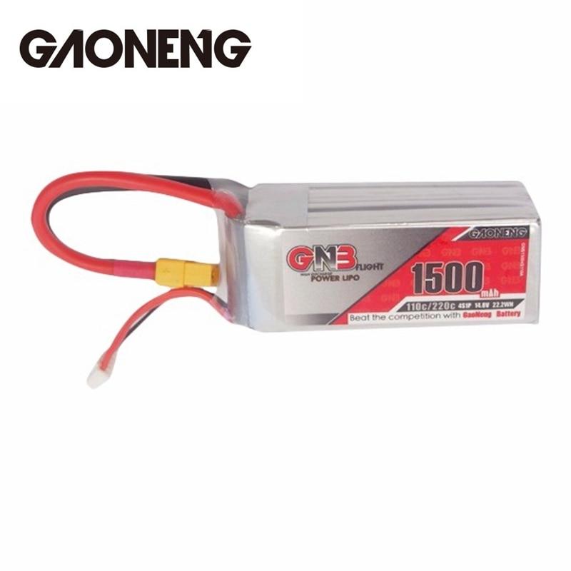 GAONENG GNB 14.8 V 1500 mAh 4S 110C/220C Rechargeable Lipo Batterie pour FPV Racing RC Drone Quadcopter Hélicoptère puissance