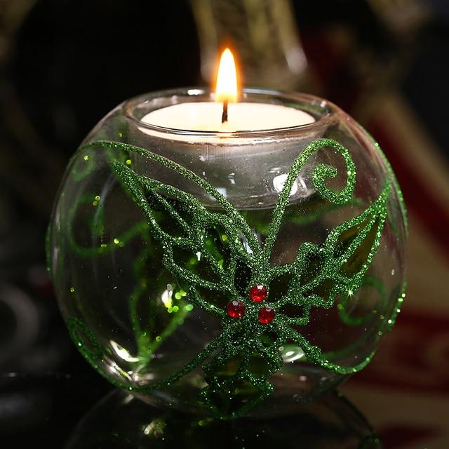 Round Ball Tealight Candle Holders/ Green Clover/ Wedding Party Decor Candlestick Festival Xmas Light Holder freeship