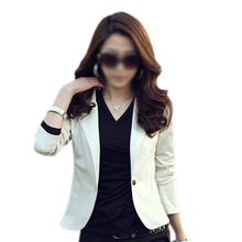 TFGS Ladies Long Sleeves One Button Casual Autumn Blazer