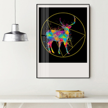Modern Canvas Art Nordic Wall Painting Prints Deer Poster Nursery Decoration Picture Home Decor