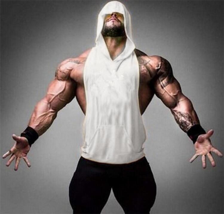 2018 Summer Plain Gyms   Tank     Top   Mens Bodybuilding Stringer hoodies Blank Vest Fitness Shirt 100% Cotton Solid Sleeveless   Tops