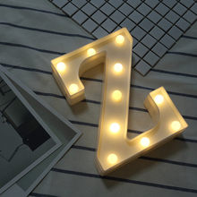 Alphabet Letter Lights Soft Warm Glow LED Light Up Warm White Plastic Illuminate Letters Wall Hung Standing Hanging N-Z 23May 9(China)