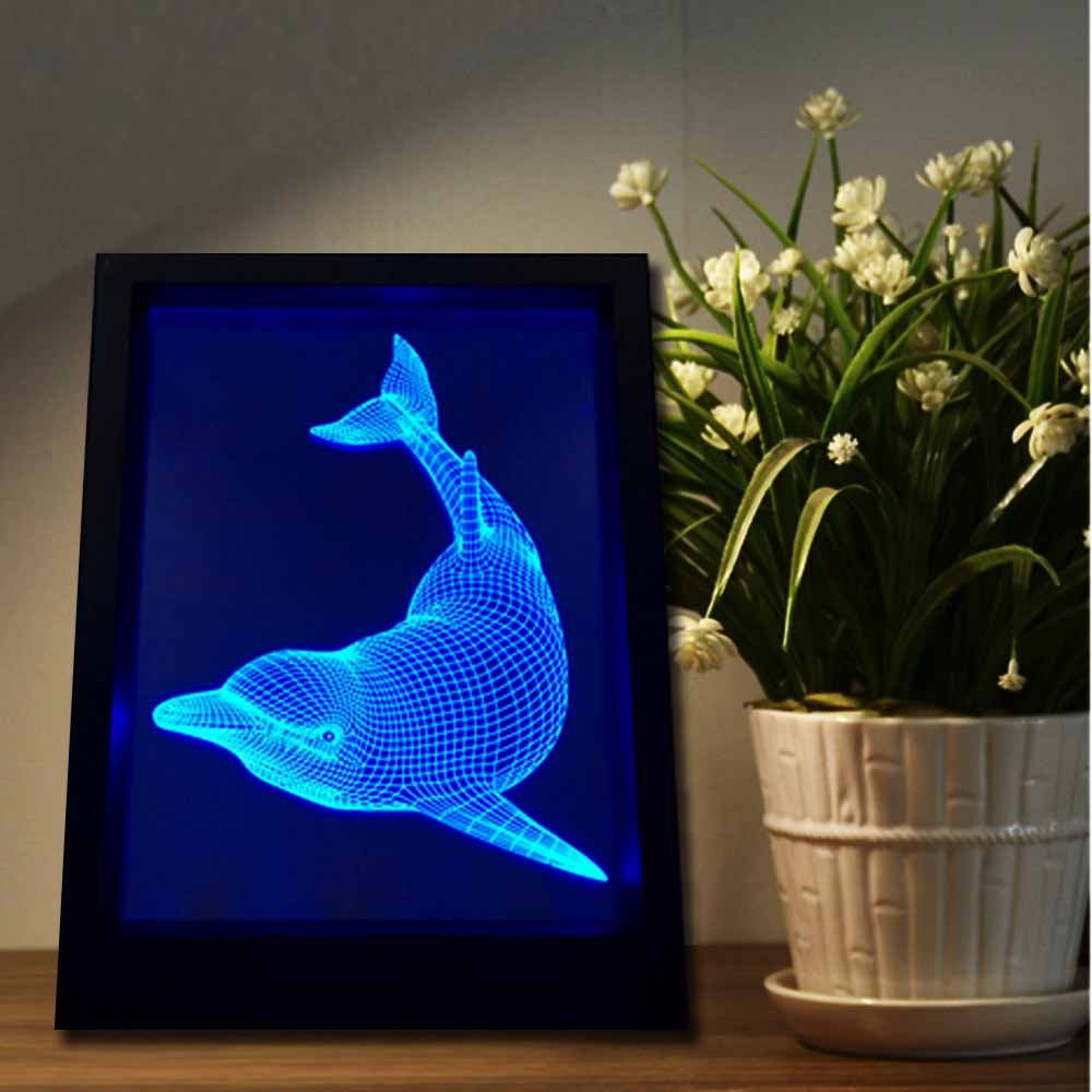 Lovely dolphin 3d illusion led nightlight baby bedside table desk lovely dolphin 3d illusion led nightlight baby bedside table desk lamp usb led electronic gadget decorative lighting photo frame in night lights from lights reviewsmspy