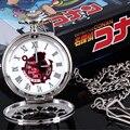 Hot Anime Detective Conan Reloj de Bolsillo Hueco Cadena Cosplay Prop Regalo