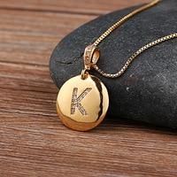 Top qualité femmes filles lettre initiale collier or 26 lettres breloques colliers pendentifs cuivre CZ bijoux collier personnalisé