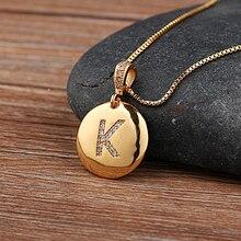Высокое качество, женское ожерелье для девочек с надписью, золото, 26 букв, ожерелье с подвеской, медное CZ ювелирное изделие, персонализированное ожерелье