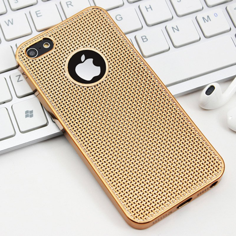 iphone 5s gold case. aliexpress.com : buy luxury ultra thin rose gold plating case for apple iphone 5 5s se grid dissipate heat soft tpu silicone back cover iphone5 from iphone 5s