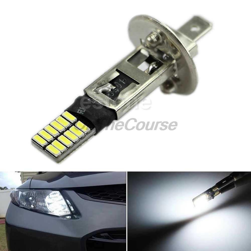 6500K HID White 24-SMD H1 LED Replacement Bulbs For Fog Lights Driving