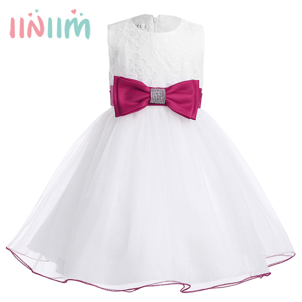 Online get cheap 1st birthday dress for baby girl aliexpress infant baby girls bow sleeveless flower girls dress for weeding princess pageant for 1st birthday party dresses gifts size 3m 3y dhlflorist Image collections