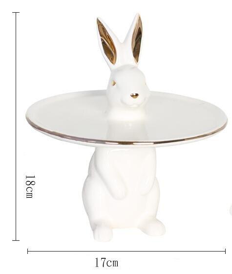 Скандинавский креативный Кролик Керамический торт лоток украшение дома - 3