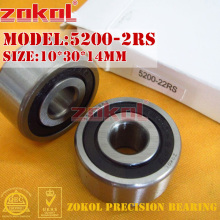 цены ZOKOL bearing 5200 2RS 3200-2RZ (3056200) Axial Angular Contact Ball Bearing 10*30*14mm