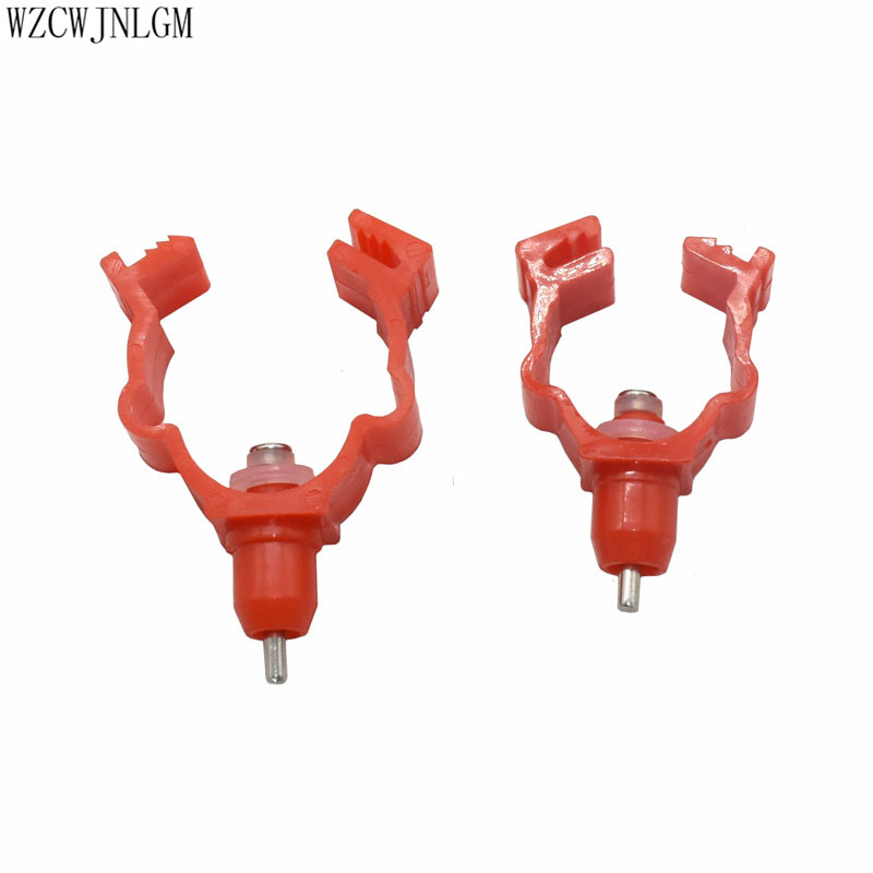 5 Pcs Chicken Nipple Drinker Water Pipe Diameter20mm To 25mm Red ABS Plastic Material Feeding Watering Poultry Supplies