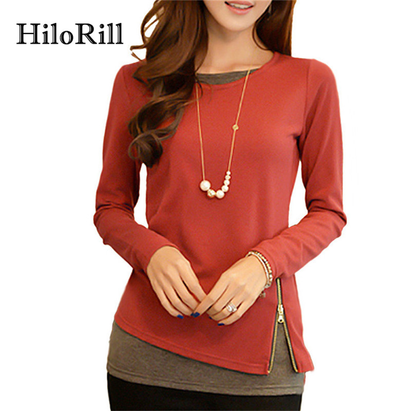 Hilorill Casual Long Sleeve Blouse Women 2017 Spring