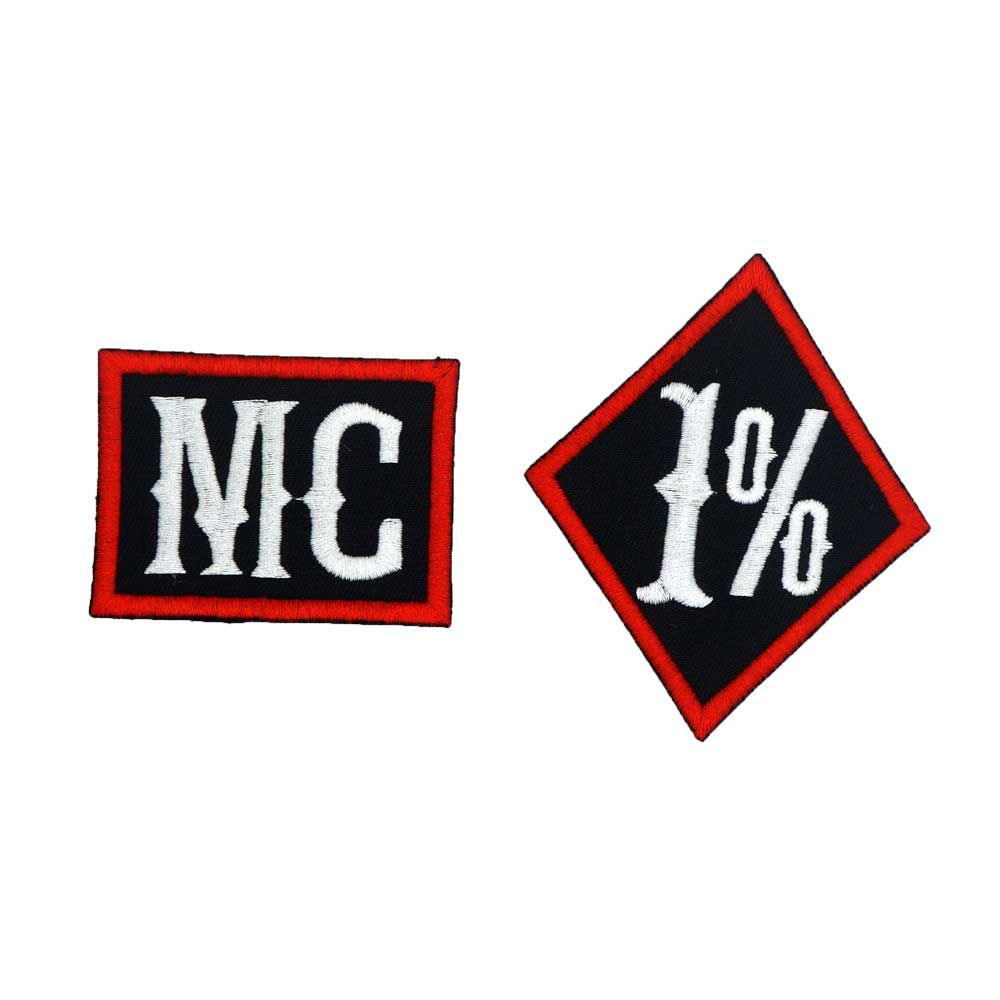 <font><b>1</b></font>% <font><b>MC</b></font> name tag iron on backing funny punk rock embroidered biker motorcycle <font><b>patches</b></font> for vest hat jeans image