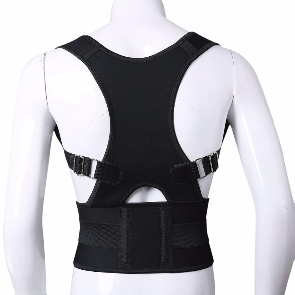 Dukungan Postur Tulang Belakang Sabuk Kembali Postur Korektor Pria Wanita Magnetic Brace Dukungan Bahu Adjustable Belt Kembali ...