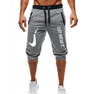Hot ! 2018 New Hot-Selling Man's Shorts Summer Casual Fashion Shorts JUST BREAK IT print Sweatpants Fitness Short Jogger M-3XL