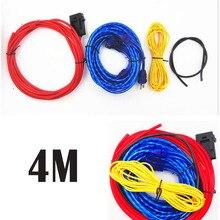 Линия мощности, модифицированный автомобильный стерео провод, сабвуфер, линия 4 м, автомобильный усилитель, наборы линий