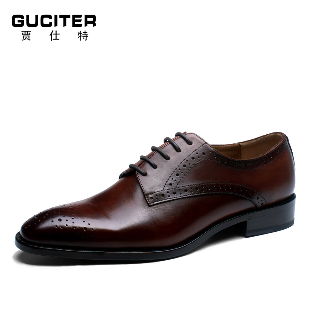 Fress Shipping Mens Handmade custom shoes Customized wipe color Goodyear leather shoe Bullock painted carved chinese factory free shipping chinese factory custom 2017 100