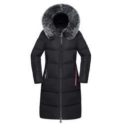 Winter Women's Down Parkas Winter Jacket Big Fur Thick Slim Long Coat Fashion Zipper Hooded Female Long Outerwear C88023L 6