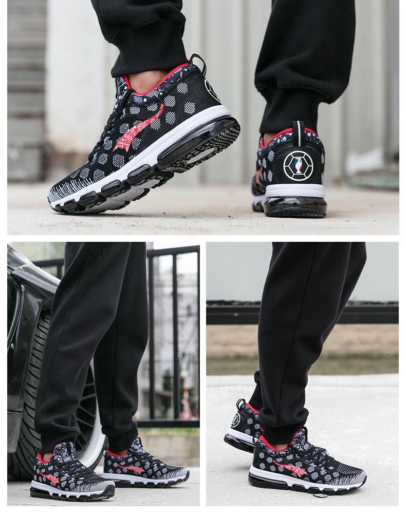 Onemix Running Shoes for men women's Sneakers Elastic Women Jogging Shoes Black Trainers Sport Shoes for outdoor jogging walking 16