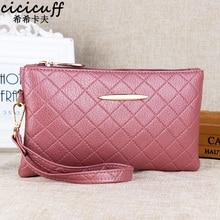 CICICUFF Ladies Wallet Women PU Leather Tassel Clutch Bag Girls Zipper Clutch Coin Purse Female Wrist Bag Handbag for Shopping
