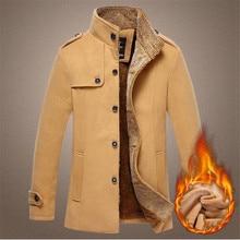 Мужчины Шерстяное Пальто Тонкий 2017 Осень И Зима Подходит Мужчин Среднего длинные Пальто И Куртки Манто Homme Пальто Шерстяное Пальто Мужчины A2367