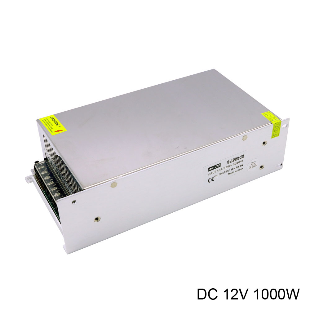 цена на Power Supply 12V 1000W high power AC 220V to DC 12V 83.3A 1000W LED Power Supply cooling by fan