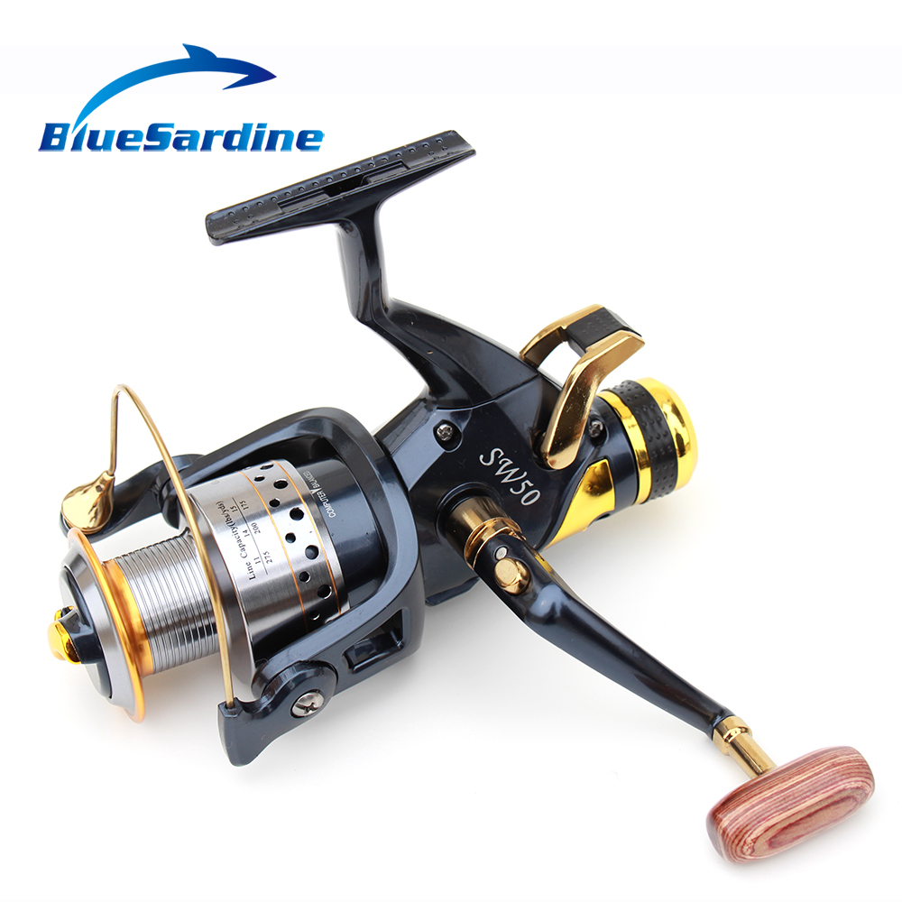 Large Metal Fishing Reel Spinning SW6000 9 + 1BB 5.2: 1 Fish Coil Carretilha Pesca SW50 Gratis frakt