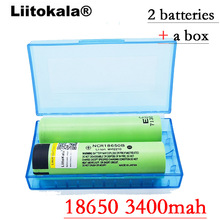 2017 Liitokala 2pcs / lot New Original 18650 NCR18650B 3400 mah Li-ion rechargeable battery 3.7V
