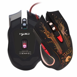 Image 2 - HXSJ H700 Adjustable 5500DPI Professional USB Wired Optical 6 Buttons Gaming Mouse with LED Backlight Ergonomical Design