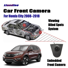 Liandlee Car Front View Camera Small Logo Embedded / For Honda City 2008-2018 2010 4.3 LCD Screen Monitor Cigarette Lighter