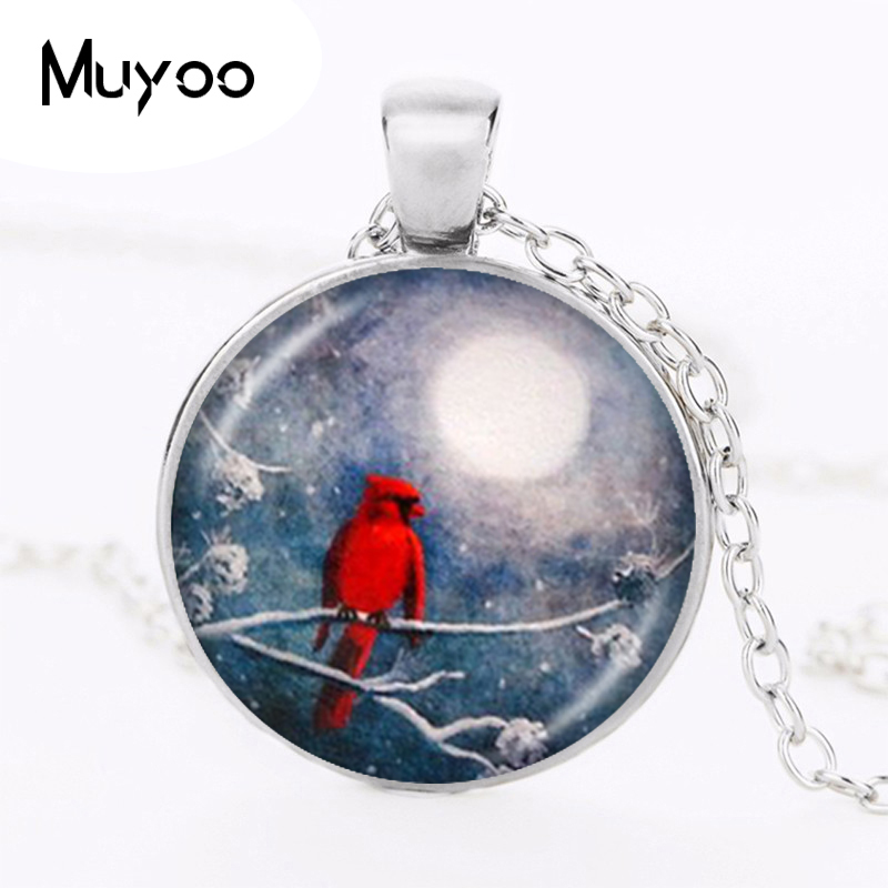 size pendant plated s women cardinal silver crystal pin necklace