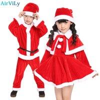2017 Christmas Baby Romper Boys Girls Xmas Clothes Sets Children Dress Kids Santa Claus Costume