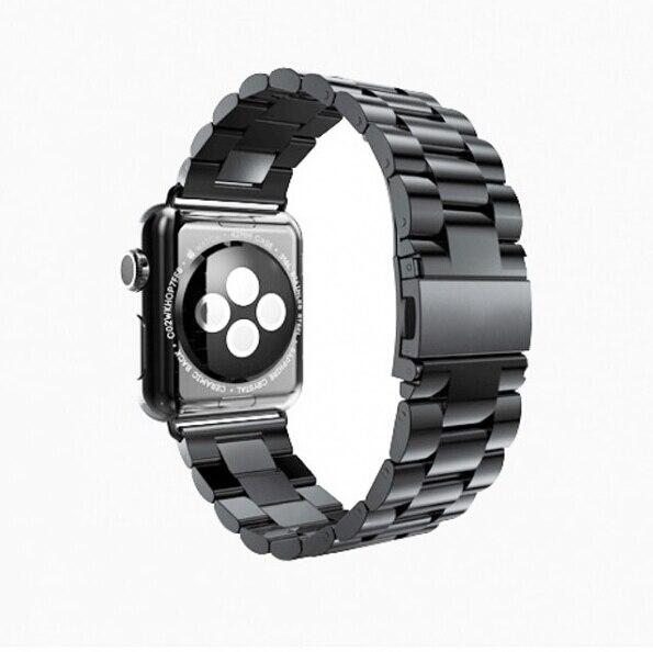 Prix pour Mode bracelet Lien boucle 316L Bracelet en acier inoxydable avec connecteur adaptateurs bracelet bande Pour apple watch 38/42mm