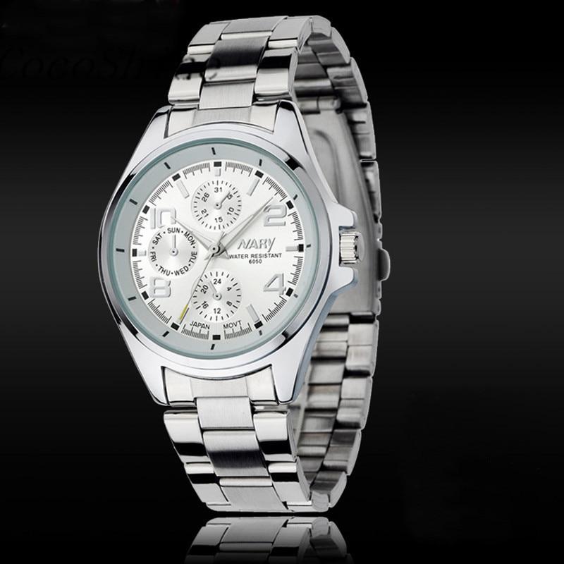 CocoShine B 112 Fashion Luxury Men Stainless Steel Classical Quartz Analog Wrist Watch wholesale Free shipping