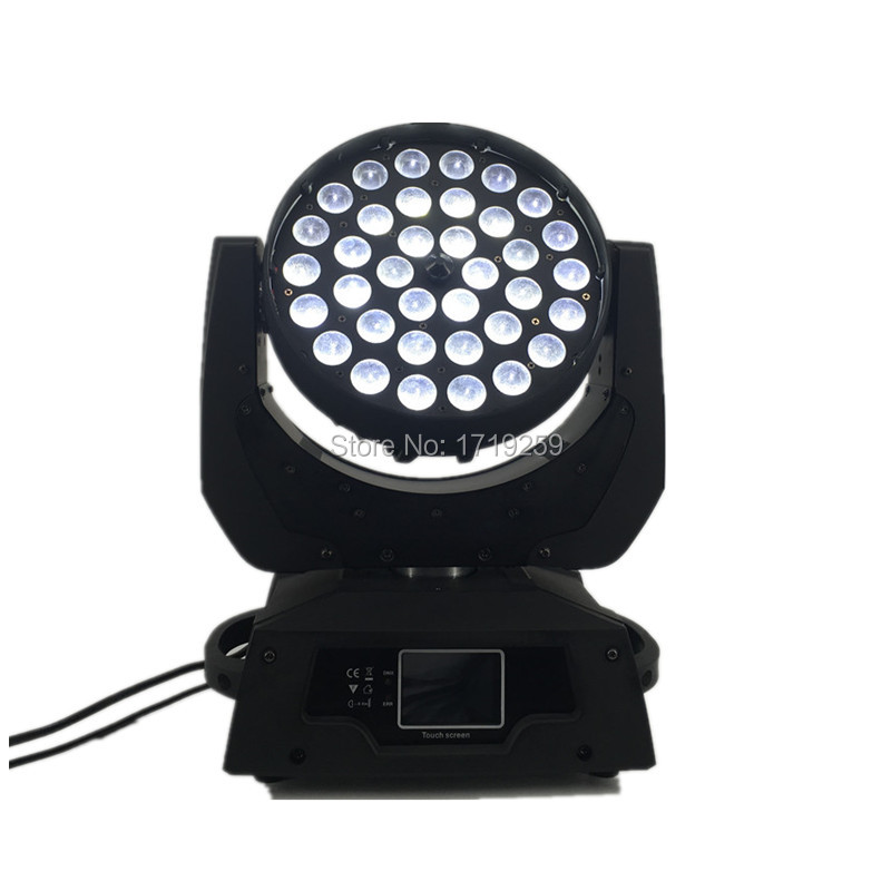 2 pcs/lot LED Zoom Wash 36x12W RGBW Color DMX Stage Touch Screen ,LED Moving Head Wash Light with 16 DMX Channels 19 12w high power led rgbw wash light 16 channels ac90 240v moving head light professional stage