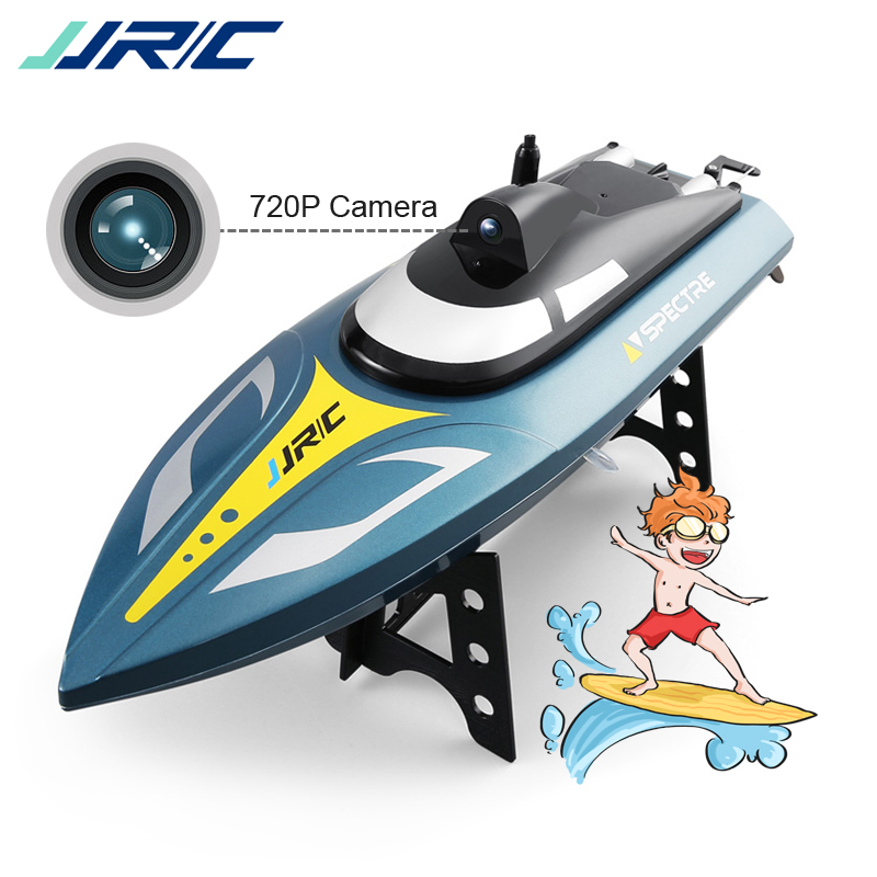 JJRC S4 Ghost 2.4G 25km/h High-Speed RC Boat 720P HD Camera WIFI FPV App Control SPECTRE Water Cooling System Racing Speed Boat image
