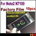 10 unids para samsung galaxy nota 2 N7100 7100 film film Protector de Pantalla de Fábrica Negro Blanco