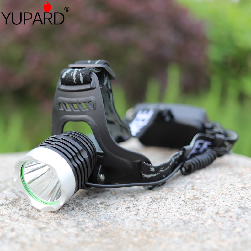 Купить с кэшбэком YUPARD  XML-L2 LED Aluminum alloy Headlamp Head Torch Lamp light Flashlight 3 Mode black super T6 yellow light  fishing camp