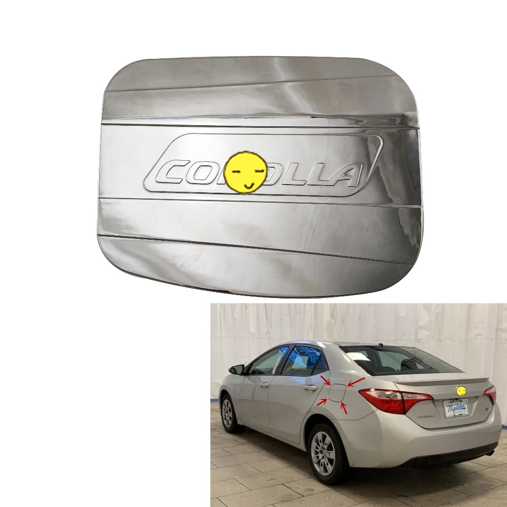 Luxury FX Chrome Fuel Gas Door Cover w//Crease for 2003-2008 Corolla