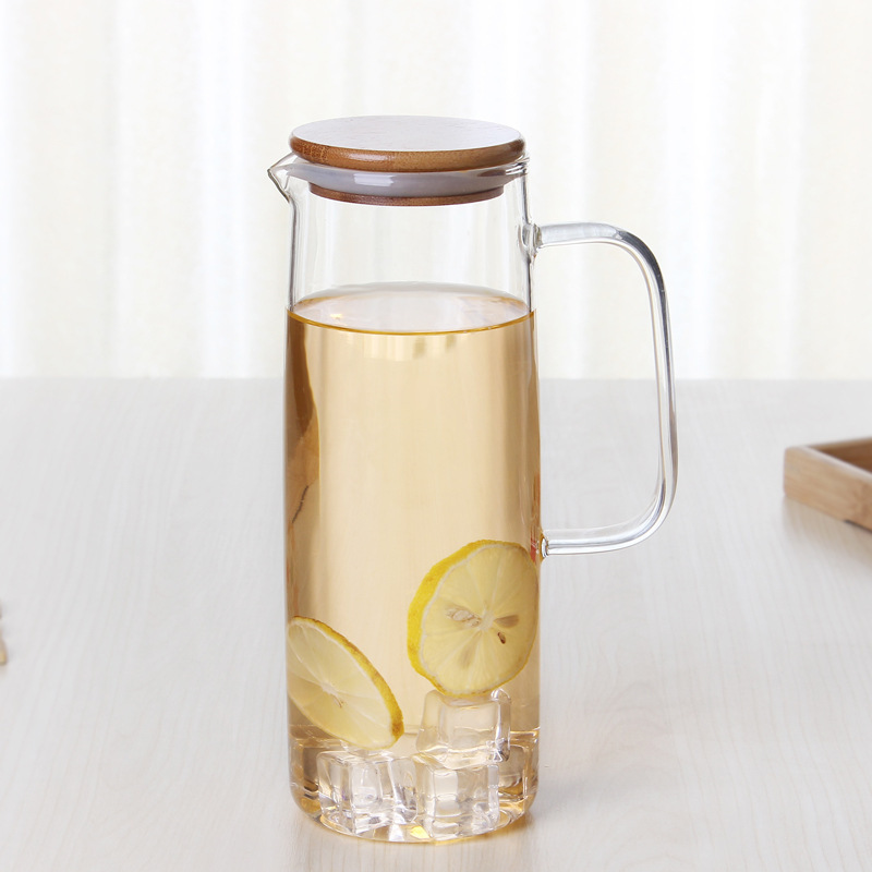 Heatproof Glass Carafe With Stainless Steel Or Bamboo Or Glass Lid