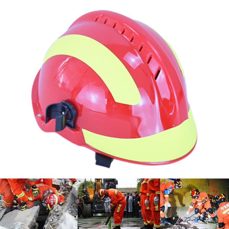 Earthquake Rescue Helmet Protection Safety Cap With Goggles Fire Fighter Hat L29k